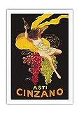 Plaque en métal 20,3 x 30,5 cm Asti Spumante – Vin blanc pétillant italien – Publicité vintage