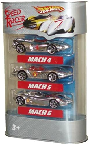 Hot Wheels Speed Racer 3-Car Pack - Mach 4  Mach 5  Mach 6 by Speed Racer