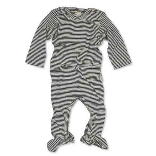 Lilano Lilano Schlafanzug - Overall, Größe 50, Farbe Blau-Natur von Wollbody® - 70% Schurwolle kbT, 30% Seide - Vertrieb nur durch Wollbody®