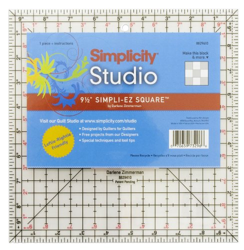 6-1//2-Inch by 6-1//2-Inch Simpli-EZ 8829406 Square Sewing and Quilting Tool