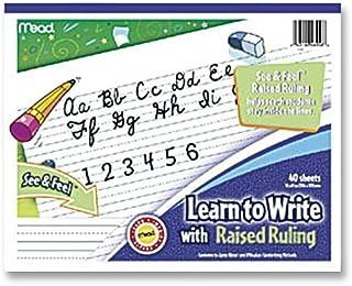Mead : الكتابة اللوحي، حكم مرتفع، خطوط منقط، 8 بوصة × 10 بوصة، أبيض -- تباع كعبوتين من - 1 - / - إجمالي 2 لكل قطعة