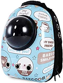 MAOSHE Pet Bag, Window Transport Carrying Breathable Travel Bag Bubble Astronaut Pet Dog Space Capsule Cat Carrier Backpac...
