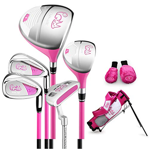 PGM Junior Golf Club Complete Set for Children Kids - 3-5 Age Groups Boys & Girls, Pink