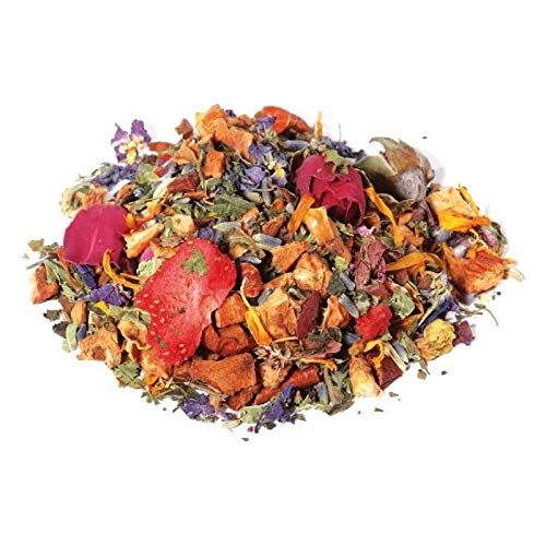 Fiori di Provenza herbal tea 50 gr 12/14 cups In resealable zip bag and aroma saver - Tisantea - Relaxing herbal tea with a fresh taste - Processed and Packaged in Italy