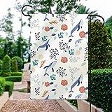 Mustertapete, Muster, Pedicel Textil Grafik, Tapete, Gartenflagge, Urlaub, Dekoration, doppelseitig, 30,5 x 45,7 cm, Outdoor-Dekoration für Häuser und Gärten