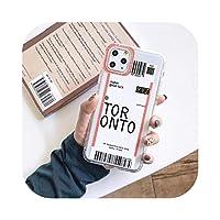 Csddg 市内旅行航空券米国ニューヨークトロントロサンゼルスカバーケースiPhoneX XS MAX XR 11 PRO 7 8 6 s Plus pHONE-Toronto-for iphone 8