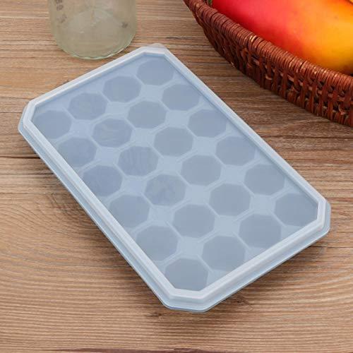Molde de hielo Bandeja de hielo de silicona de 24 rejillas Suave para chocolate(Dailan)