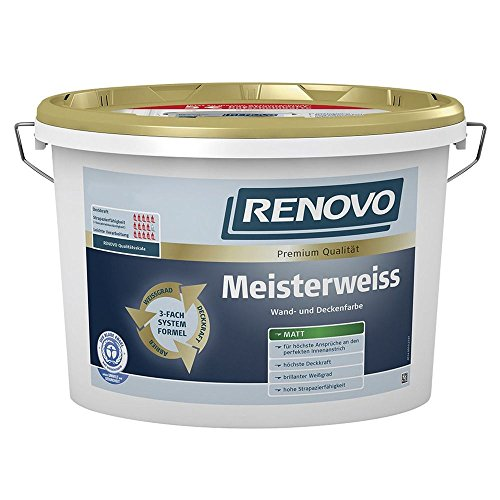 Innenfarbe Meisterweiss 10 L matt Wandfarbe Deckenfarbe Renovo