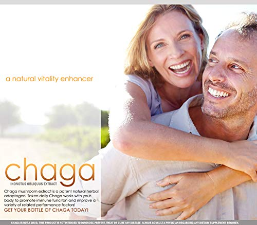 51+bkq0bCdL - Chaga Mushrooms Capsules | 1800mg Per Serving | VH Nutrition 30 Servings | Chaga Mushroom Powder | Immunity and Anti-Aging Support Supplement with Natural Ingredients