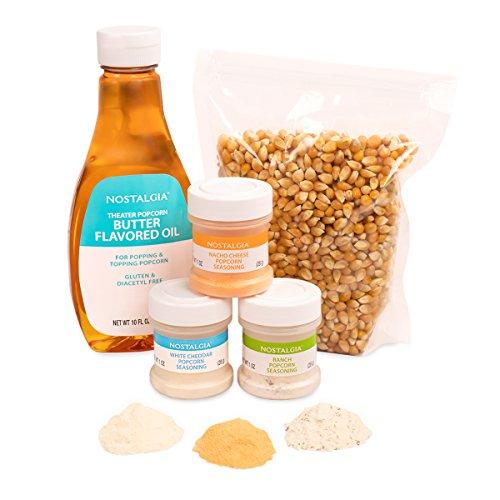 Product Image 4: Nostalgia KPK400 Hot Air & Kettle Kit, 3 Seasonings, Oil, Popcorn Kernels, Pack of 1