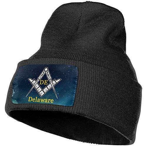 AEMAPE Sombrero de Punto Unisex Gorro de Calavera de Moda Sombreros de Tejer - Delaware Freemason