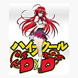 Rias Gremory Highschool School DxD Anime Issei Japan Cosplay Hyoudou Manga High Best Poster Wall Art for Home Decoration 16x24 Inches