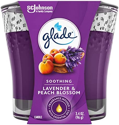 Glade Candle Jar, Air Freshener, Blooming Peony & Cherry, 3.4 Oz