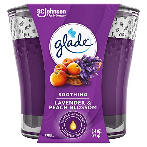 Glade Candle Jar, Air Freshener, Lavender & Peach Blossom, 3.4 Oz