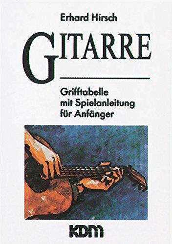 Gitarre: Grifftabelle mit Spielanleitung für Anfänger