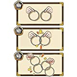 1 Set (4 pcs) Mystery Close Up Magic Tricks 4 Connected Rings Silver