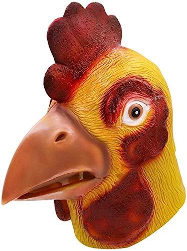 YUNGYE Pollo Maschera novità Costume Party Lattice Testa di Animale Maschera Gallo Cosplay Props