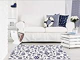 Alfombra Infantil Motivo Marinero PVC | 95 cm x 165 cm | Moqueta PVC | Suelo vinilico | Decoración del Hogar | Diseño Moderno, Original, Creativos