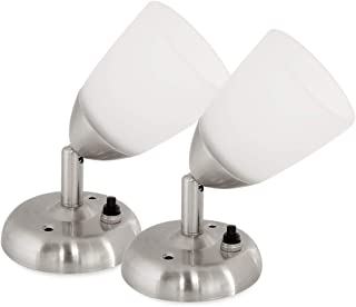 Dream Lighting 12volts LED Reading Lights – Mini Spotlight With Frosted Grass Lampshade- Cool White – Bedside/Chart Wall L...
