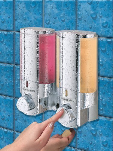 Aviva Spender 2-fach für Seife / Shampoo / Gel, verchromt