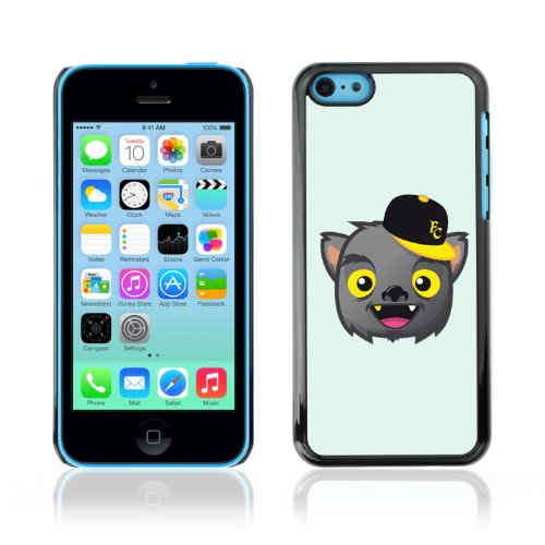 CelebrityCase Polycarbonate Hard Back Case Cover for Apple iPhone 5C ( Cute Wolf )