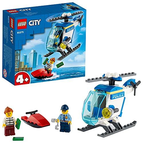 LEGO 60275 City Polizeihubschrauber Spielzeug mit Polizisten und Gauner Minifiguren für Jungen und Mädchen ab 4 Jahren