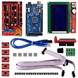 Robocraze 3D Printer DIY kit with Mega 2560 board, Ramps1.4 Shield, A4988 with Heat Sink, 12864 Smart LCD and USB Cable | 3D Printer DIY Project