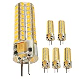 Ukey U G4 LED Bulb 5Watt Bi-Pin Base 12V AC/DC 2700K Warm White Dimmable Waterproof T3 G4 50W LED Halogen Replacement 5Pack (5)
