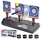 Upgraded Electric Scoring Auto Reset Shooting Digital Target for Nerf Guns Blaster Elite/Mega/Rival Series with Wonderful Light Sound Effect, Ideal Gift Toy for Kids, Teens, Boys & Girls