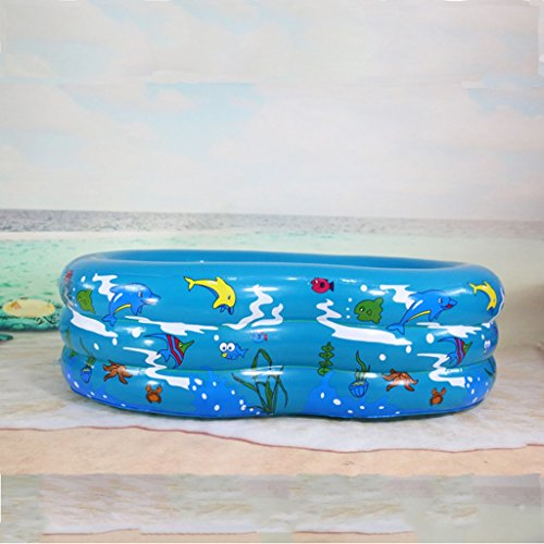 LYM & bañera Plegable Bañera Inflable del bebé Que infla la Tina de baño para los niños Kid Protable Swimming Swimming Newborn Infant Bath Piscina Desmontable (Color : B)