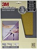 3M 60-MIX Pliegos de papel de lija de todos los granos, Set de 3 Piezas