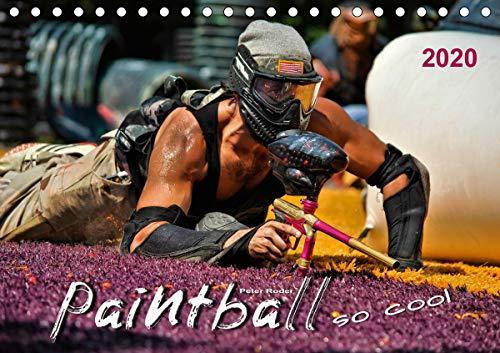 Paintball - so cool (Tischkalender 2020 DIN A5 quer)