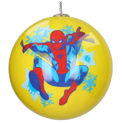 SD toys Marvel Bola Navidad Spiderman Nieve, Amarillo, 6.5x6.5x6.5 cm