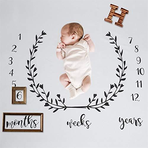 Newborn Baby Monthly Milestone coperta, coperta per...