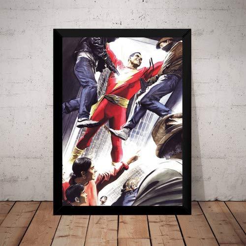 Quadro Shazam! Capitão Marvel Dc Arte De Alex Ross