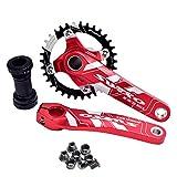 1 Set Guarnitura MTB Bici Ruota Dentata 170Mm 32T 34T 36 38T Movimento Centrale Guarnitura...