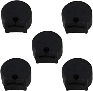 Yibuy Black Soft Rubber Clarinet Thumb Rest Cushion Protector Pack of 5