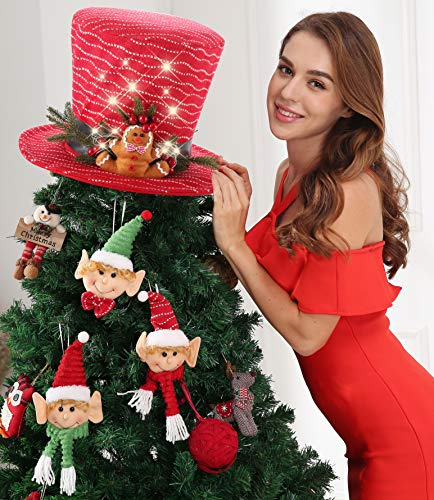 Top Hat Tree Topper with Ornament Sets