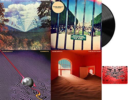 Tame Impala: Complete Vinyl Studio Album Discography (Innerspeaker / Lonerism / Currents / The Slow Rush) with Bonus Art Card