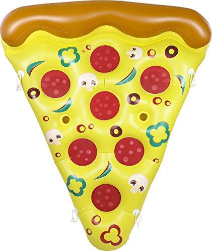 Greenco géant Gonflable Pizza Piscine Float Chaise Longue avec connecteurs 6 x 5 Pieds