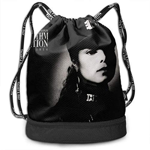 JINGS Janet Jackson Rhythm Nation 1814 Kordelzug Rucksack Sports Athletic String Bag Offers Countless Uses