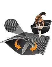 Pywee - Esterilla de doble capa para el baño, impermeable, con almohadilla de control de panal, 30 x 30 cm