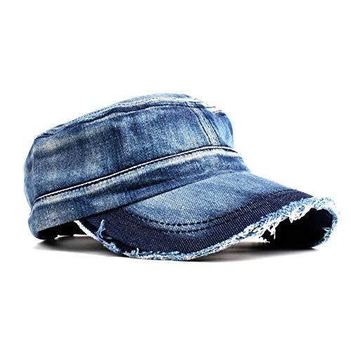 Almenyy Baseballmütze Gewaschene Jeans Army Cap Für Männer Frauen Snapback Military Hat Denim Kadett Caps Flat Top