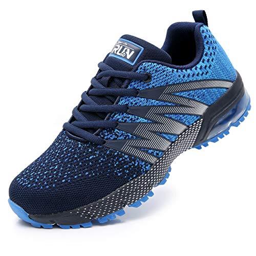 Axcone Damen Herren Sneaker Laufschuhe Air Sportschuhe Kletterschuhe Turnschuhe Running Fitness Sneaker Outdoors Straßenlaufschuhe Sports 8995 BU 44EU