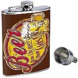 La Perfection Dans Le Style Bouteille De Whisky En Acier Inoxydable D-243 La Bière Est Maintenant Moins Chère Que Le Gaz 7OZ