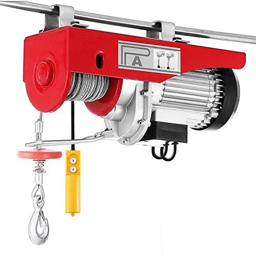 Mophorn Seilhebezug 300/600kg elektrischer Seilhebezug 12m Kabel elektrische Seilwinde mit 1.5m Kabel-Fernbedienung für Laden- oder Automobilgarage (600mm)