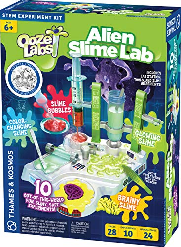 Thames & Kosmos Ooze Labs Alien Slime Lab Science Experiment Kit  $15 at Amazon