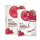 SNP Shining Nature Purity Gesichtsmaske von Früchten Gelato Packung mit 10 Firming - Granatapfel