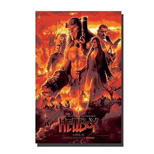 chtshjdtb David Harbour Neil Marshall Hellboy Film Filmwall Kunst Poster und Drucke Leinwand Malerei Home Wanddekoration -50X75Cm No Frame 1 Pcs