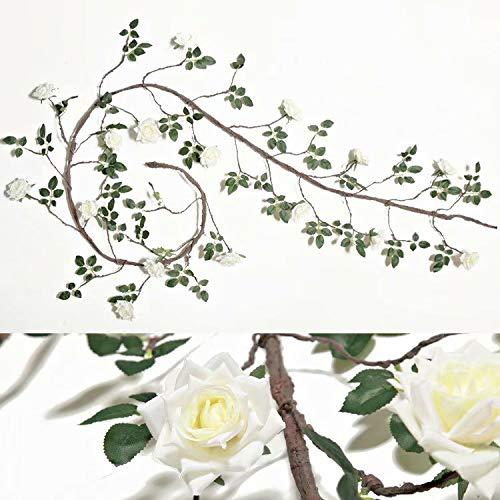 safeinu rosa artificial flor falsa decoración de boda familiar de alta calidad flor de plástico colgante de pared decoración de tubo de techo vid de flor falsa Vid de árbol de jardinería de ratán